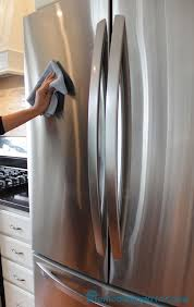 Getting rid of fingerprints, drips and smudges on stainless steel.