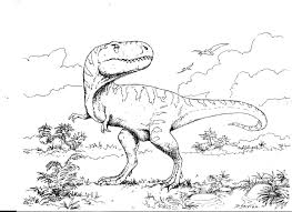 Coloriage De Dinosaure Carnivorelll L