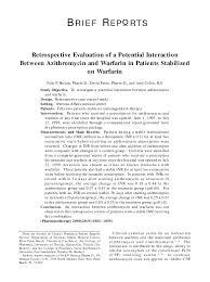 Warfarin Antibiotic Interaction Chart Pdf Retrospective Evaluation Of A Potential Interaction