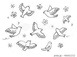 ハト鳩のイラスト素材集 Pixtaピクスタ