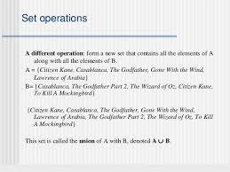 Set Operations And Venn Diagram Sets And Venn Diagrams