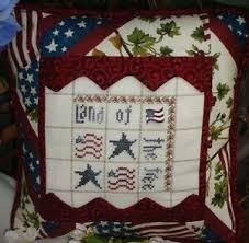 Chart Cross Stitch Free Details About Land Of The Free Cross Stitch Chart W Button By Teri Richards Shepherds Bush