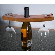 glass and bottle holder wine