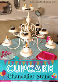 how to make a chandelier cupcake stand girls spa party chandelier cupcake stand