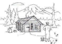 logging coloring pages log cabin coloring pages happy log cabin day pinterest log