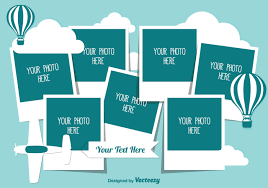 Cute Photo Collage Template Download Free Vector Art Stock