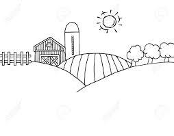 圧延の丘農場サイロ農地の着色ページ概要