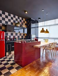 Red Floor Tiles Kitchen Simple Remodel Chess Floors Can Change The Game