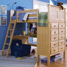 Bunk beds with dressers built in Triple Bunk Dresser Built Into The End Our Final Bed Features Full Function Desk Tucked Beneath An Ample Natural Wood Framed Bed Daly City Americanlisted Classifieds 25 Bunk Beds With Desks made Me Rethink Bunk Bed Design