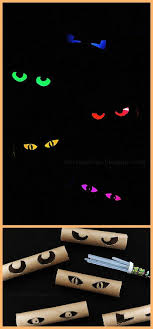 love halloween window decor: diy glowing eyes easy and cheap halloween window display decorations tutorial rust and sunshine