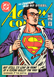 ic book covers featuring 80s post punk new wave singers including morrissey of course as superheroes they re amazing obviously image credit