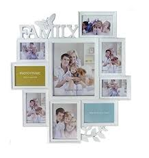 LARGE WHITE BUTTERFLY LEAF WALL HANGING FAMILY PHOTO FRAME MULTI PICTURE  HOLDER