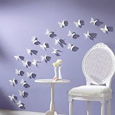 NYKKOLA White 24PCS 3D Butterfly Wall Stickers Decor Art Decorations 3 Size  (1, White