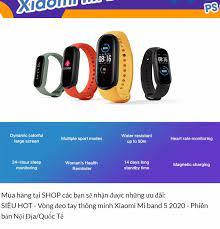 Vòng đeo tay thông minh Xiaomi Mi band 5 2020 - Phiên bản Nội Địa/Quốc Tế