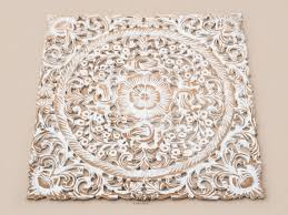 white wash wood carving white wood wall art panel wall hanging lotus wood carved plaque decor on lotus panel wall art with wall art top 10 best pictures white wood wall art large wood wall
