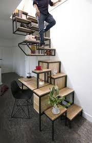 Desk, Storage And Shelving All Combined In An Innovative Staircase Design