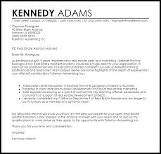 Real Estate Assistant Cover Letter Sample Templates Letters
