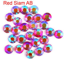 Red <b>Siam AB</b> Hotfix Rhinestones DIY DMC Crystal Crystals Hot Fix ...