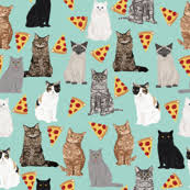 pizza pattern wallpaper.  Pizza Pizza Cats Cute Mint Cat Lady Fabric Food Pizzas For Pizza Pattern Wallpaper