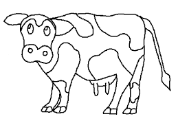 Small Picture Cow coloring Free Animal coloring pages sheets Cow