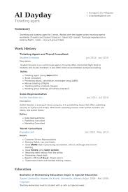 Ticketing Agent And Travel Consultant Resume samples