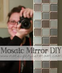 Do It Herself How to Mosaic Tile A Mirror Caffeine and Cabernet