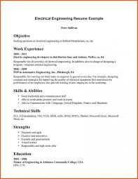 Nice Electrical Engineering Freshers Resume Format Also Resume For