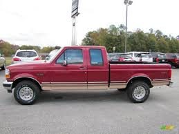 1995 Electric Currant Red Pearl Ford F150 XL Extended Cab 4x4 ...