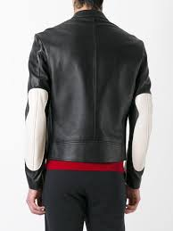 black elbow patch leather jacket for men lyst view fullscreen