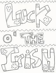 St Patricks Day Coloring St Patricks Day Coloring Pages Doodle Art Alley