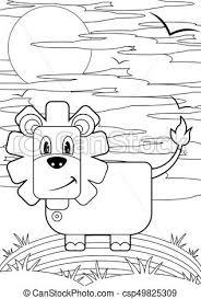 ライオン 図画 線 漫画