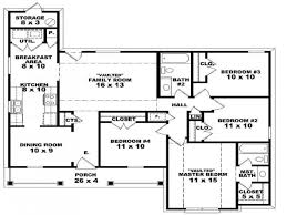Image Of: 4 Bedroom House Floor Plans Home Interior Design With Regard To 3  Bedroom