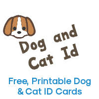 Printable Identification Card Dog Cat Id The Best Free Printable Dog Id Card And Cat Id Card