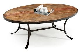 this table design mi rustic look wood surface with dark metal framing for a