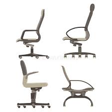 side view office set. set collection pack office chairs side view o