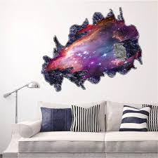 Space Bedroom Wallpaper Galaxy 3d Space Meteoriten Wohnzimmer Schlafzimmer Tv Hintergrund