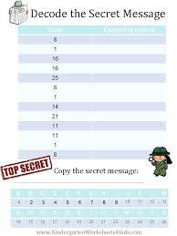 Secret Code Worksheet Worksheets For Kids Coloring Balaicza