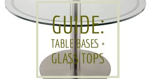we make it easy to create beautiful glass table tops with our glass table top adapter shown is our rfl750 stainless steel base at dining height with a 48