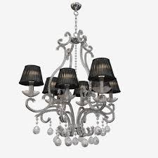 chandelier emme pi light masiero group 8010 8 3d model max obj fbx stl