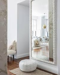 White Full Length Living Room Wall Mirror Design Ideas