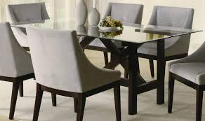 dining room table and fabric chairs. Full Size Of Furniture:astonishing Round Glass Dining Room Tables And Chairs 92 With Additional Table Fabric .