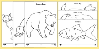 They include exercises on tracing and printing the words for each color, matching objects to their colors and organizing pictures by their color. Free Coloring Sheets To Support Teaching On Brown Bear Brown Bear