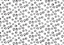 犬の足跡柄モノクロ白黒の背景無料イラスト68071 素材good