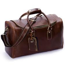 huntvp com supplies huntvp mens leather travel duffel bag overnight shoulder carry on weekend luggage