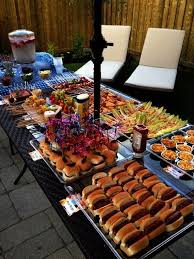 Outdoor bbq - I like that all of the food is