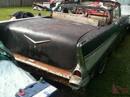 Untouched Original Black 1957 Chevrolet Belair Convertible ALL ...