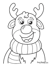 This 8.5x11 coloring sheet features santa and his reindeer amid a winter wonderland as they leave for their christmas eve flight! Christmas Coloring Pages Easy Peasy And Fun