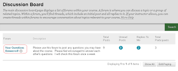 Using A Blackboard Discussion Forum Elearning Support And Resources