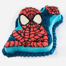Spiderman Shaped Ice Cream Cake Melbourne