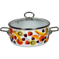 <b>Кастрюля эмалированная</b> VITROSS <b>4.0</b> л Fruits (1SC205S) купить ...